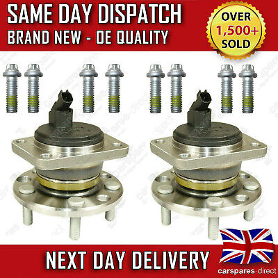 FORD MONDEO Mk3 JAGUAR X TYPE REAR WHEEL BEARING + HUB + ABS SENSOR PAIR (2x)