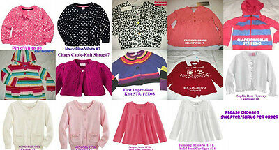 * NWT NEW GIRLS Carter's Sonoma Chaps Shrugs Cardigan Sweater Infant Toddler
