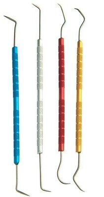 """4pc 5-1/2"""" to 6"""" Single Ended Pick Set Stainless Steel"""