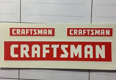 """Craftsman Tool decal one 3""""  and two 1 1/4"""" style decal 3 for 1 For Restoration"""