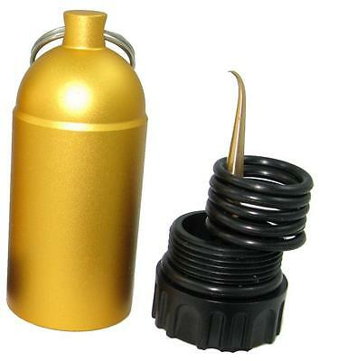 Storm Mini Tank with Pick and O-Rings - Yellow for Scuba Divers