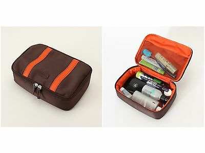 Men Handle Cosmetic Toiletry Bag Travel Organizer Case Makeup Large Functional