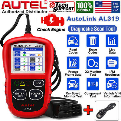 Autel Autolink AL319 OBD2 Diagnostic Tool Code Reader Scanner with Color Screen