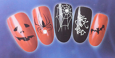 Spooky Halloween Nail Art Water Decal Transfer Sticker For Natural/False Nails