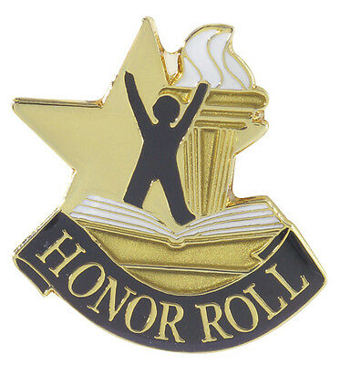 Honor Roll Letterman Jacket Pin,  Honor Roll Award Pin
