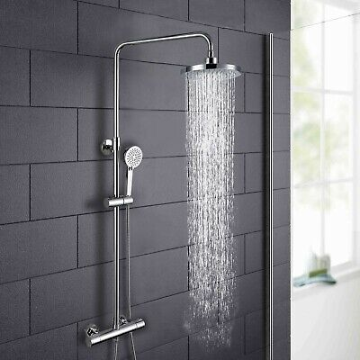 Helen Modern Round Thermostatic Wall Mounted Dual Control Riser Shower Mixer