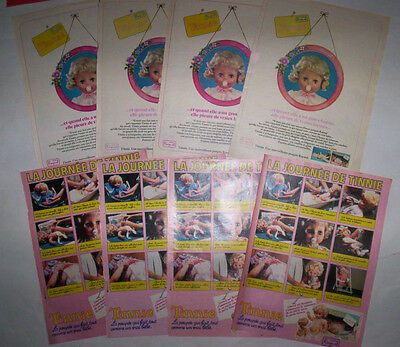 Lot Publicites Annees 70 Special Poupees Raynal Tinnie