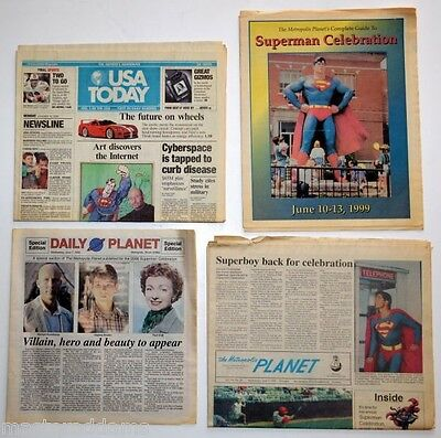 DAILY PLANET NEWSPAPER, Metropolis PLANET, SUPERMAN CELEBRATION & USA TODAY