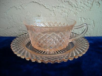 Miss America Cup and Saucer  Pink