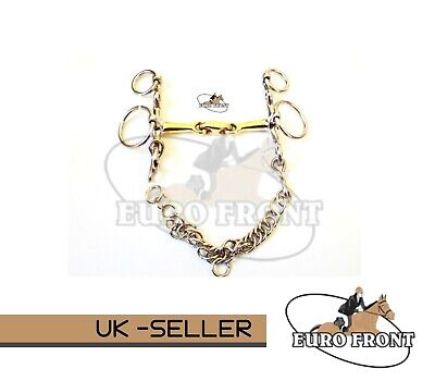 Loose Rings Copper Mix Lozenge Pelham Bit Horse Equestrian
