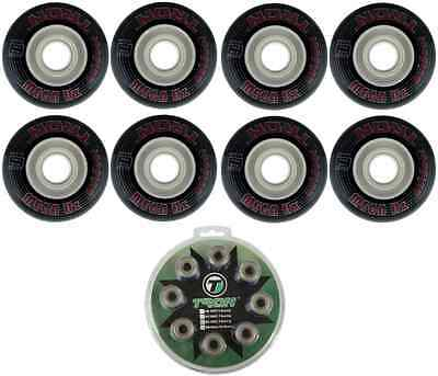 Tron Mega Hz Outdoor Inline Hockey Wheels 76mm/82A 8-Pack With ABEC 9 Bearings