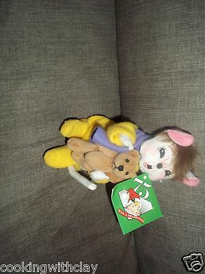 """NEW PLUSH DOLL FIGURE RARE ANNALEE 6"""" I'M SLEEPY MOUSE CAPED DECORATION TOY"""