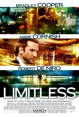LIMITLESS MOVIE POSTER 1 Sided ORIGINAL 27x40 BRADLEY COOPER ROBERT DE NIRO