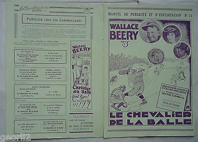 BASEBALL/WALLACE BEERY/CASEY AT THE BAT/french pressbook 20'S