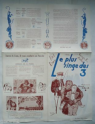 KARL DANE/CIRCUS ROOKIES/ /french pressbook 20'S