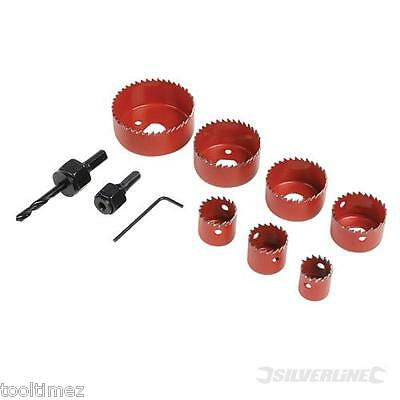 21mm - 64mm Holesaw Kit 11pce  21, 25, 29, 38, 44, 51 and 64mm 633479