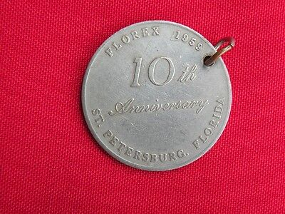1959 FLOREX FLORIDA Stamp Clubs Medallion Coin Token Philately Exposition Fob