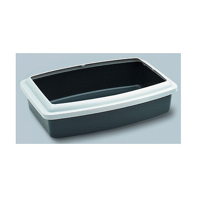 Cat Litter Tray & Rim Oval Assorted Colours 42x32x9.5cm Accessories - Cat - Litt