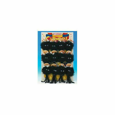 Classic Black Furry Spider Cat Toy 180mm x 12 - Accessories - Cat - Toys