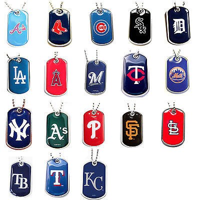 dog tag necklace MLB PICK YOUR TEAM not a cheap gumball machine tag