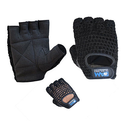 DAM MESH Wash KNIT Lifting GLOVES Finger Less Weight Liftting Gym Gloves Unisex