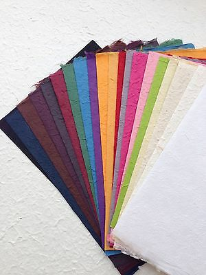 20 Sheets of handmade SAA MULBERRY PAPER - Craft, scrapbooking, Card, invitation
