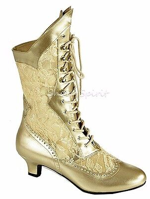Vintage Style Wedding Bridal Pirate Mary Antoinette Lace Gothic Halloween Boots