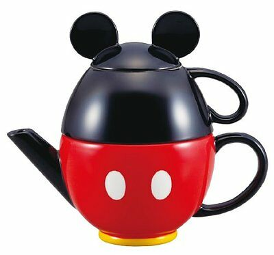 hm0148 Disney Mickey Mouse teapot set (pot and mug) Gift from Japan
