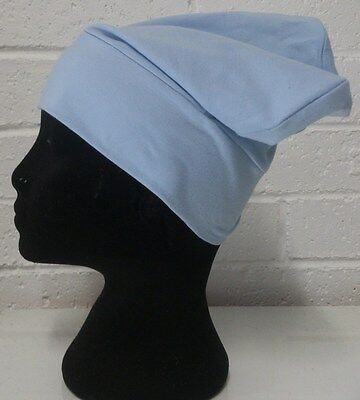 hijab cap, hijab, light blue, chemo cap, chemotherapy cap, cancer cap