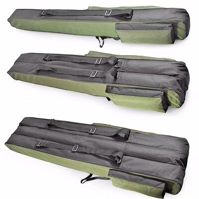 150cm long Fishing Rod Holdall Bag Carry Case Luggage for rods with reels DRAGON