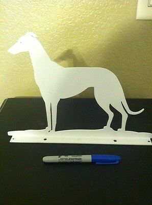 Whippet Greyhound Metal Display
