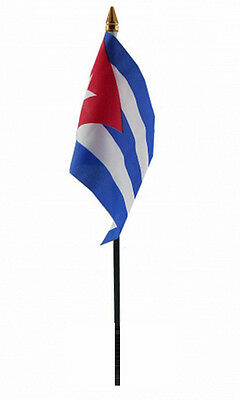 CUBA flag PACK OF TEN SMALL HAND WAVING FLAGS Cuban Havana