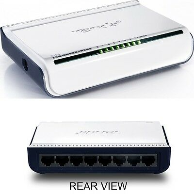 Tenda 8 Port Switch - 10/100Mbps Unmanaged - Plug & Play - Free P&p + Vat Inc.