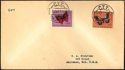 1954 MOCAMBIQUE BUTTERFLY PAQUEBOT SHIP COVER S41