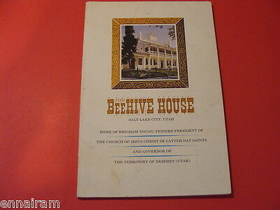 Beehive House Guide Home of Brigham Young, Mormon History, Territory of Deseret