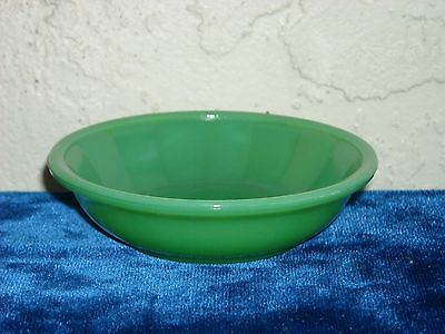 Akro Agate Large Interior Panel Cereal Bowl  Green Luster