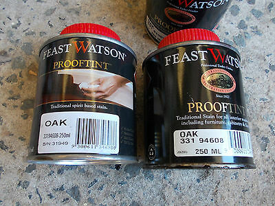 "FEAST WATSON "" PROOFTINT STAIN""  250ML CANS various colours PICK UP ONLY"