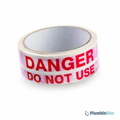 Rothenberger roll Plumbers DANGER DO NOT USE Appliance Warning Tape 67083 33mtr