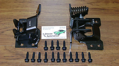 Door Hinge Set Passenger Side Upper Lower w/Mounting Bolt kit 17pc **In Stock**