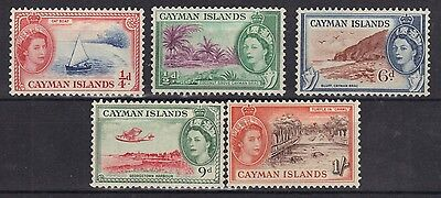 STAMPS  from CAYMAN ISLAND  1953 Q. ELIZ. 1/2d to 1/-  (MNH)  lot (BC22)