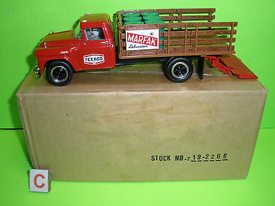 TEXACO 1st FIRST GEAR 19-2266 MARAFAX LUBRICATION 1958 GMC STAKE TRUCK NEW 1:34