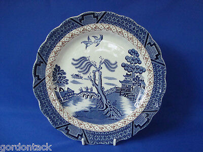 "BOOTHS BREAKFAST PLATE   "" REAL OLD WILLOW PATTERN UNGILDED VERSION  """