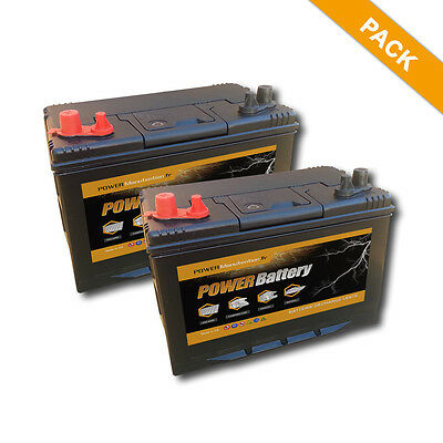 Lot de 2 x Batteries scellée decharge lente 12v 86ah 500 cycles de vie