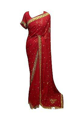 Indian elegant bollywood sari designer wedding latest party wear sarees uk 2059