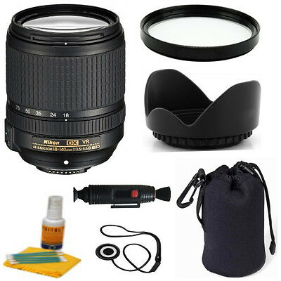 Nikon 18-140mm f/3.5-5.6G ED VR AF-S DX Zoom w/ Deluxe Accessory Kit & Warranty