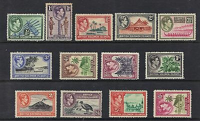 STAMPS  from BRITISH SALOMON ISLAND KG VI  1/2d  to 10/-   (MINT/MLH)  lot BC32