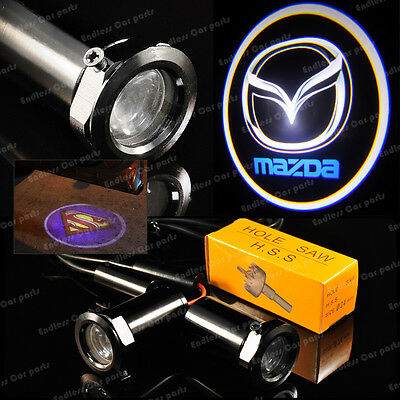 New Ghost Shadow Laser Projector Logo Cree LED Light Courtesy Door Step - Mazda