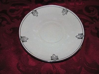 Oakland China large saucer Colonial pattern Rosenthal art deco black
