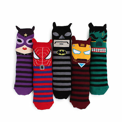FREE Shipping CHOICE!! UR Hero Socks [Catwoman Batman Spiderman Hulk IronMan] BH