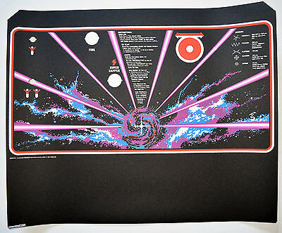 TEMPEST Full Sized Upright Control Panel Overlay Screen Printed from Atari Films